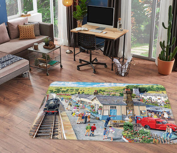 3D The Village Station 1125 Trevor Mitchell Rug Non Slip Rug Mat