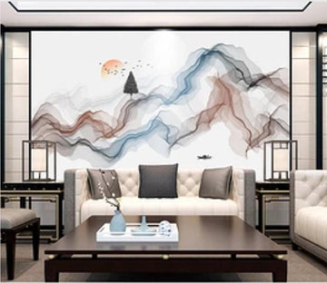 3D Color Wave 2394 Wall Murals