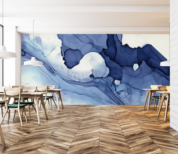 3D Navy Blue 1429 Wall Murals