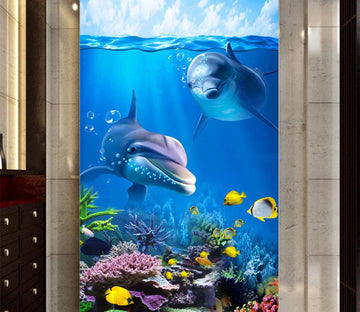 3D Deep Sea Shark 643 Wall Murals