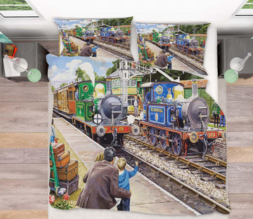 3D The Bluebell Railway 2057 Trevor Mitchell bedding Bed Pillowcases Quilt
