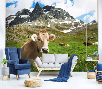 3D Cattle Mountain 338 Wall Murals