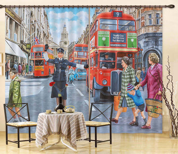 3D WPC On Ludgate Hill 118 Trevor Mitchell Curtain Curtains Drapes