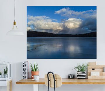 3D Clouds Lake 121 Jerry LoFaro Wall Sticker