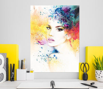 3D Model Woman 1011 Wall Sticker