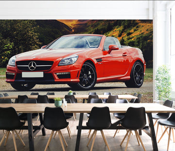 3D Mercedes Benz 998 Vehicle Wall Murals