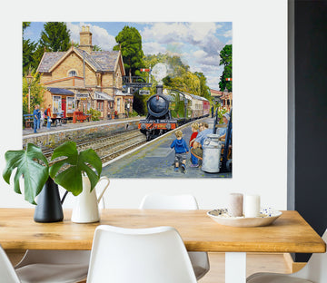 3D City Train 037 Trevor Mitchell Wall Sticker