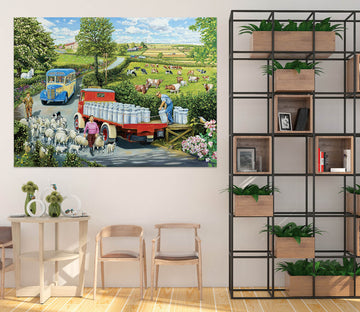 3D The Country Bus 069 Trevor Mitchell Wall Sticker