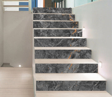 3D Broken Gray 6851 Marble Tile Texture Stair Risers Wallpaper AJ Wallpaper