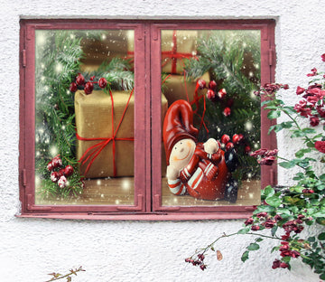 3D Christmas Gift 42196 Christmas Window Film Print Sticker Cling Stained Glass Xmas