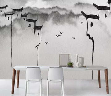 3D Roof Pattern WC1166 Wall Murals