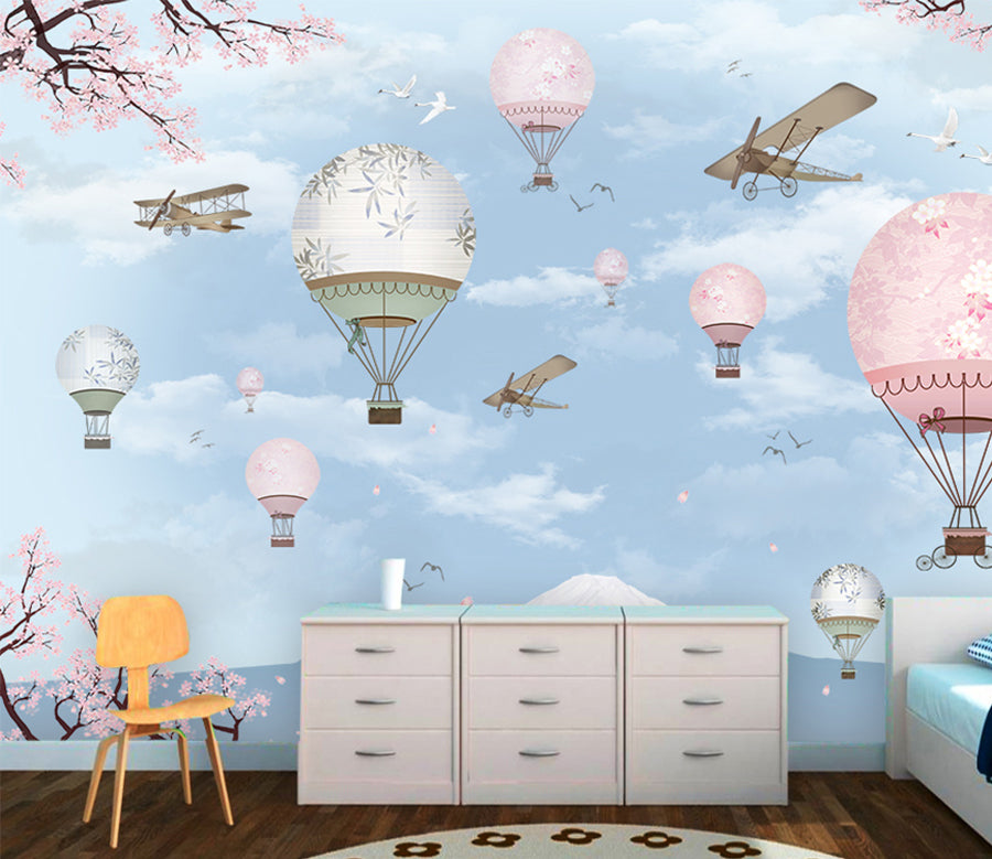 3D Hot Air Balloon WC035 Wall Murals