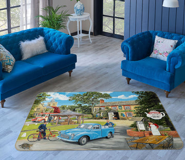 3D The Village Tearooms 1126 Trevor Mitchell Rug Non Slip Rug Mat