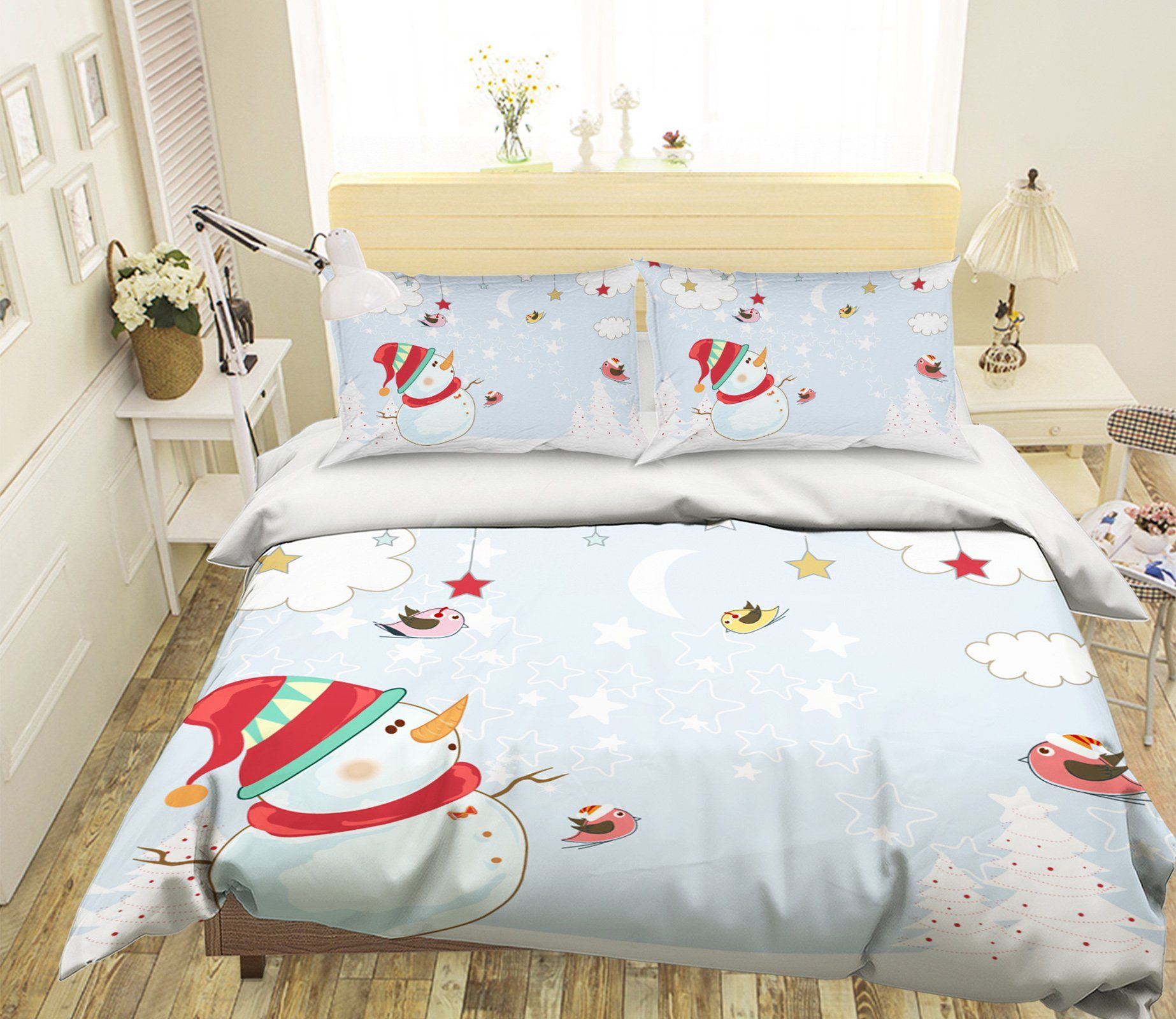 3D Christmas Star Ornaments 49 Bed Pillowcases Quilt