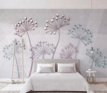 3D Diamond Dandelion WC177 Wall Murals