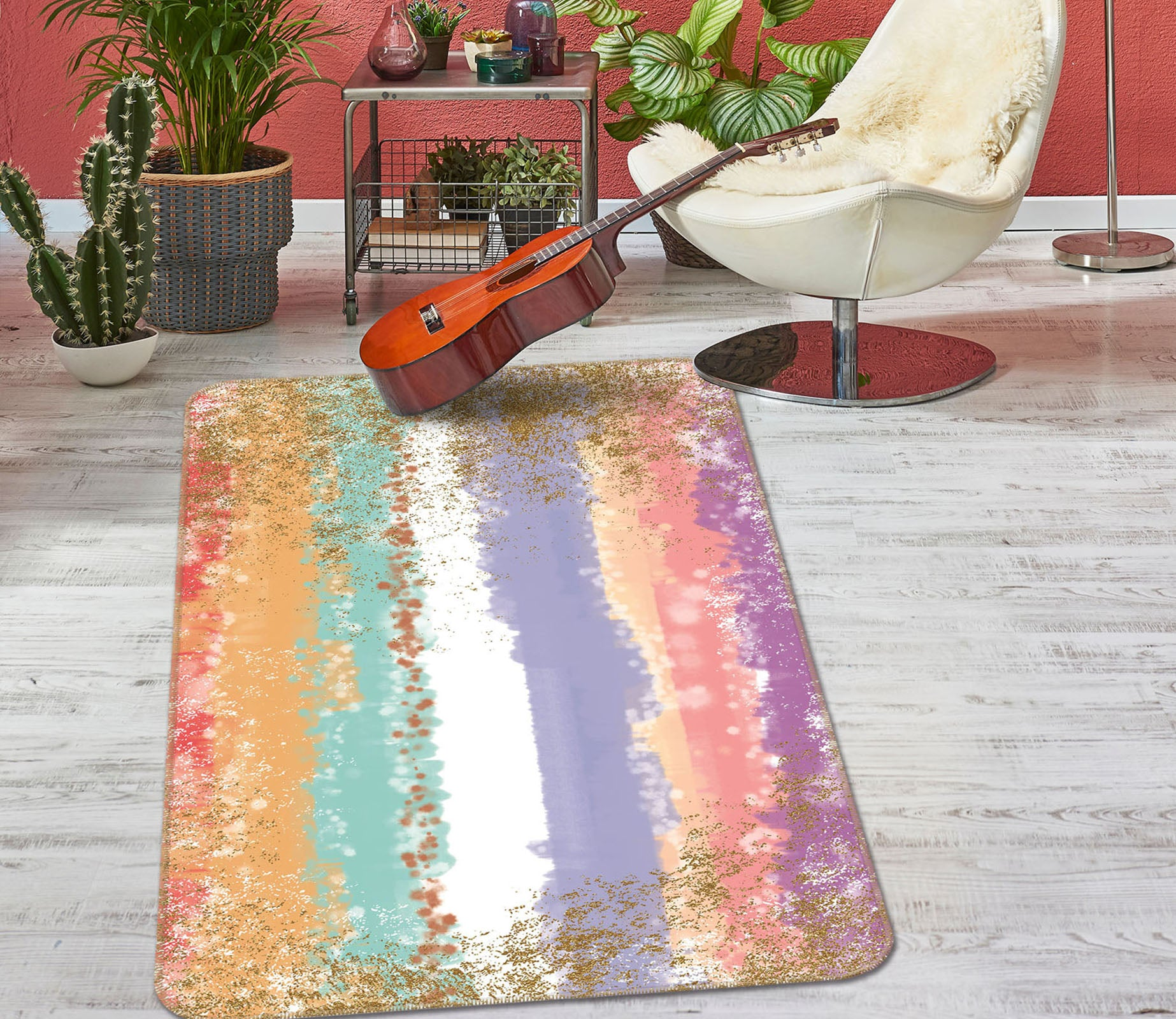 3D Colorful 27169 Non Slip Rug Mat