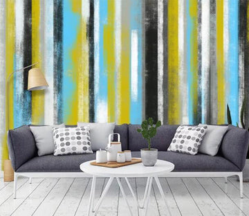 3D Color Stripes WC1072 Wall Murals