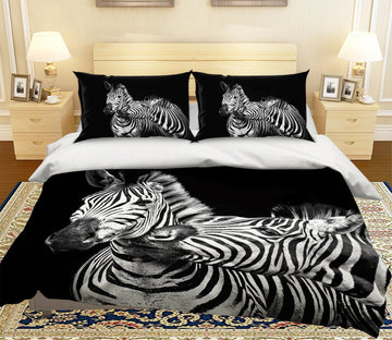 3D Zebra 2016 Bed Pillowcases Quilt