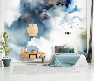 3D Navy Blue 1430 Wall Murals