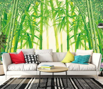 3D Bamboo Forest 1418 Wall Murals Wallpaper AJ Wallpaper 2