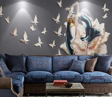 3D Butterfly Beauty 66 Wall Murals Wallpaper AJ Wallpaper 2
