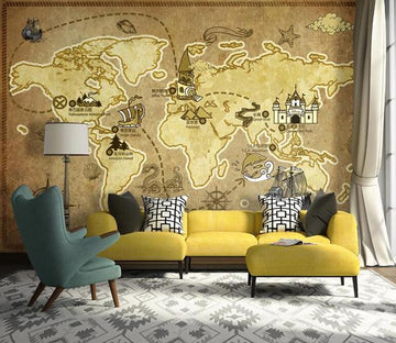 3D Map 1279 Wall Murals