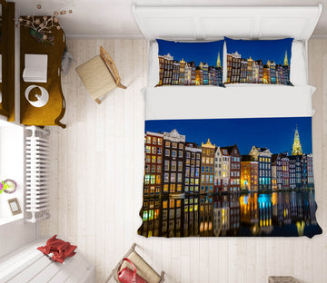 3D Amsterdam Reflections 002 Marco Carmassi Bedding Bed Pillowcases Quilt