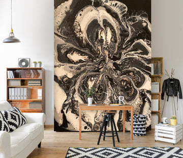 3D Black Brown Pattern 40034 Euphoric Pouring Wall Mural Wall Murals