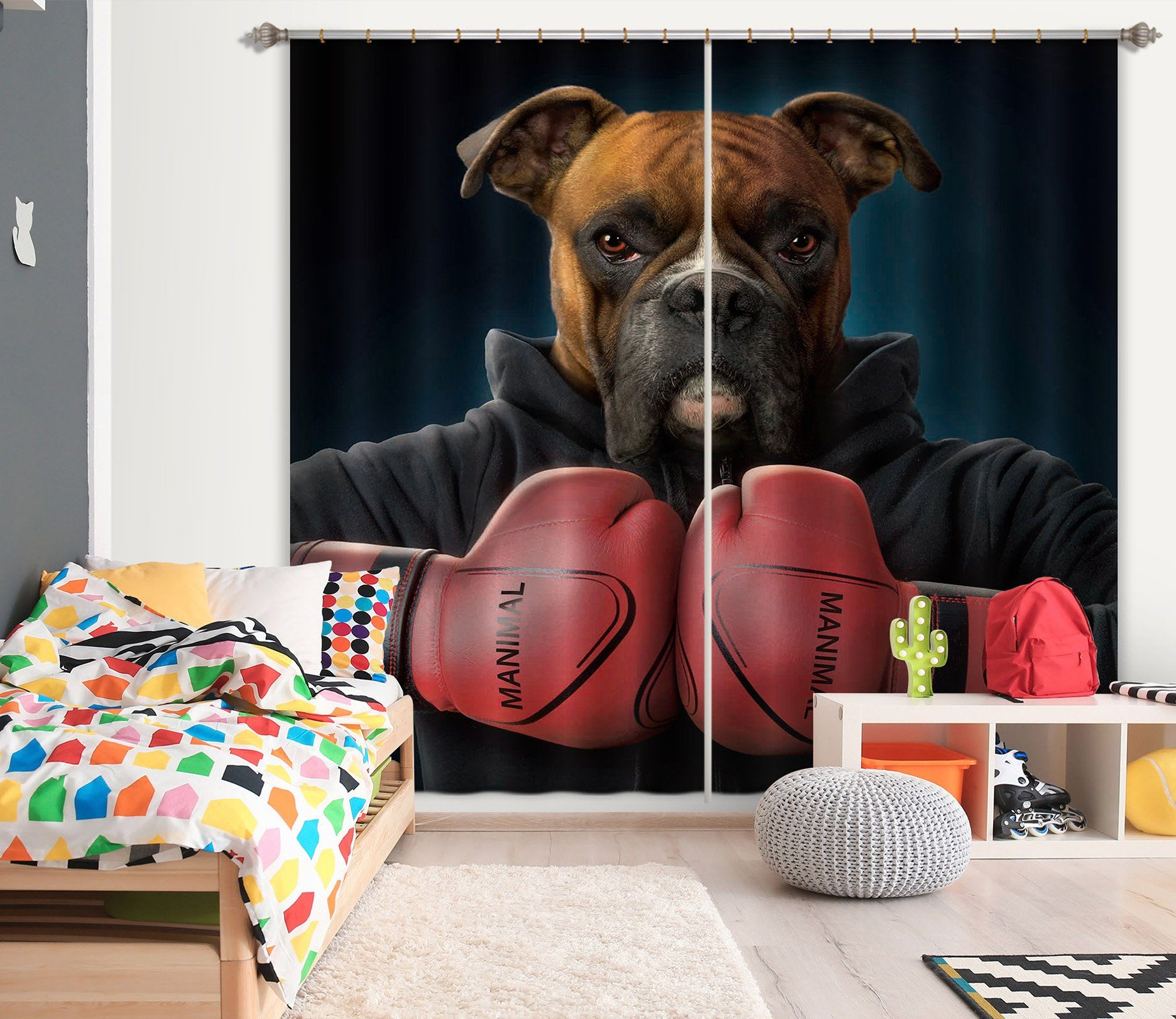 3D Boxer 015 Vincent Hie Curtain Curtains Drapes Curtains AJ Creativity Home