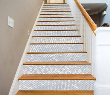 3D Delicate Square Mosaic 6852 Marble Tile Texture Stair Risers Wallpaper AJ Wallpaper