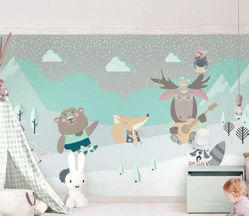 3D Zoo Ground WC138 Wall Murals