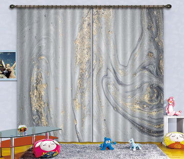 3D Silver Turbulence 60 Curtains Drapes