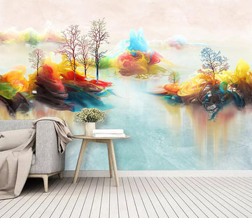 3D Colored River 824 Wall Murals