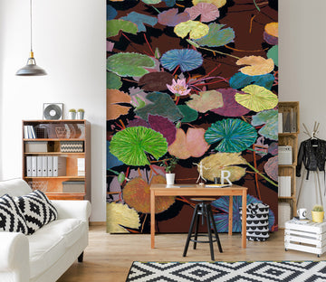 3D Color Lotus Leaf 267 Allan P. Friedlander Wall Mural Wall Murals