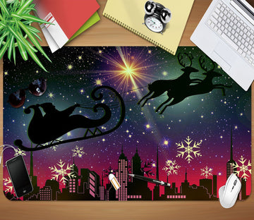3D Night Snowflake 015 Desk Mat Mat AJ Creativity Home