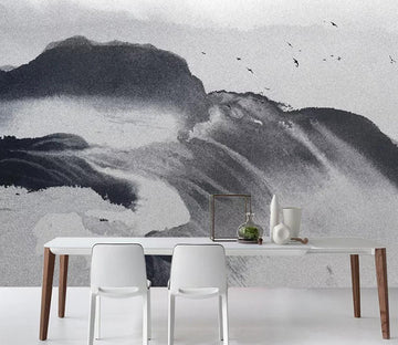 3D Black Mountain WC1147 Wall Murals