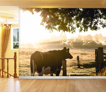3D Cow Tree 236 Wall Murals