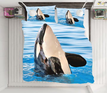 3D Whale 21051 Bed Pillowcases Quilt