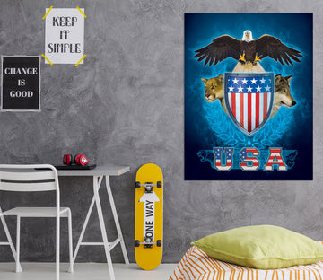 3D USA Trinity 089 Vincent Hie Wall Sticker