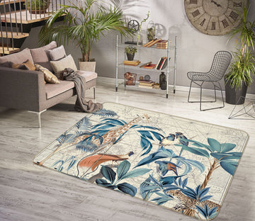 3D Palm Tree Map 1046 Andrea haase Rug Non Slip Rug Mat