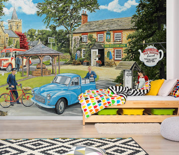 3D The Village Tearooms 1075 Trevor Mitchell Wall Mural Wall Murals