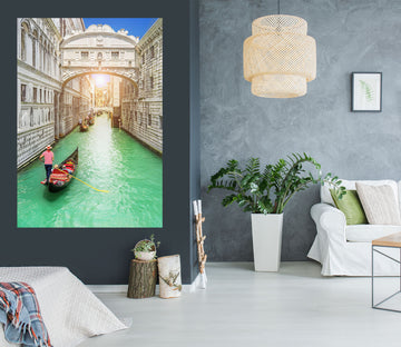 3D Boat Venice 1001 Wall Sticker