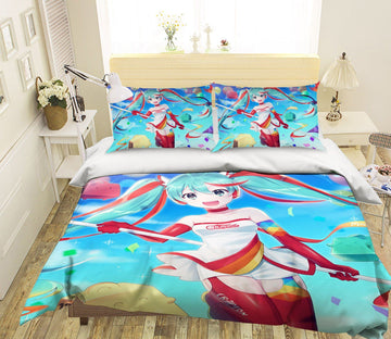 3D Hatsune Miku 51 Anime Bed Pillowcases Quilt