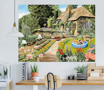 3D Summer Garden 064 Trevor Mitchell Wall Sticker
