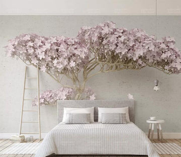 3D Pink Tree WC198 Wall Murals