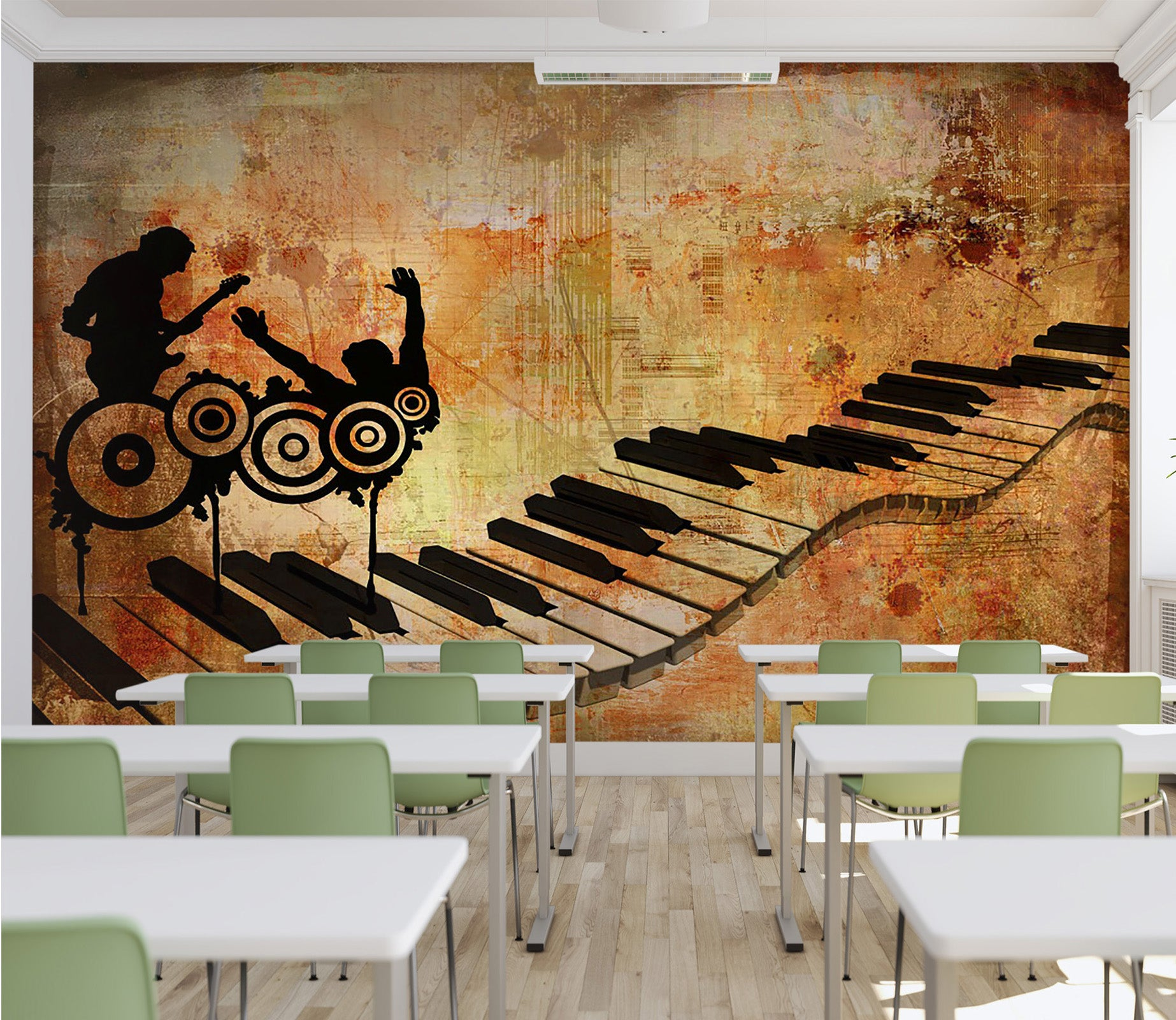 3D Tablature 011 Wall Murals
