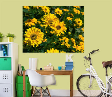 3D Sun Flower 132 Jerry LoFaro Wall Sticker