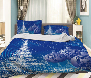 3D Christmas Magic Snow 24 Bed Pillowcases Quilt