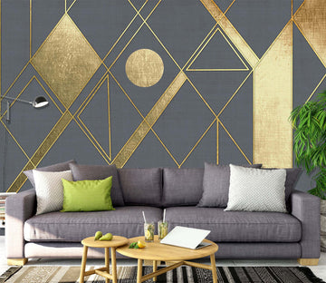 3D Gold Pattern 1461 Wall Murals
