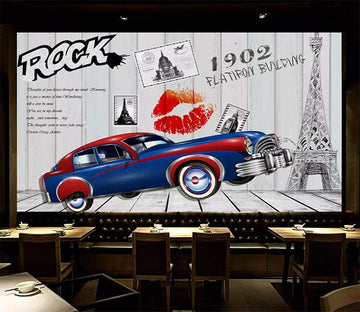 3D Car Red Lips 1225 Wall Murals Wallpaper AJ Wallpaper 2